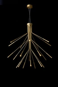 Contemporary chandelier / aluminum / LED LIGHTWEIGHT Tom Kirk Lighting
