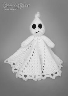 Ghost Lovey by Briana Olsen - This pattern is available for $4.50 USD. Ooooooo Oooooo! This spooky cute lovey would be oh so fun to put out for Halloween!