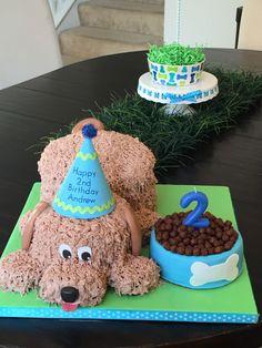 first birthday party ideas boys Puppy Birthday Cakes, Puppy Birthday Parties, Dog Birthday, Themed Birthday Cakes, Puppy Party, Themed Cakes, Birthday Ideas, Dog Themed Parties, Puppy Cake