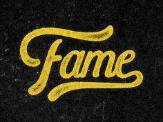 Fame #typography #inspiration #design