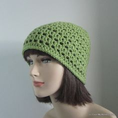 Womens Crochet Hat  Beanie Hat  Spring by ColorMyWorldCrochet,