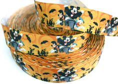 Mickey Mouse and Minnie Mouse Grosgrain ribbon Printed Ribbons - BestRibbons.com