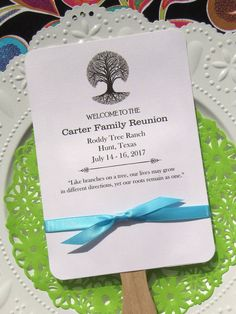 Family Reunion Ideas | Family Reunion Fans | Family Reunion | by Abbey and Izzie Designs