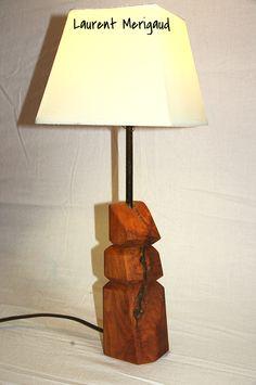 Lampe Golem en merisier - laurentmerigaud.fr