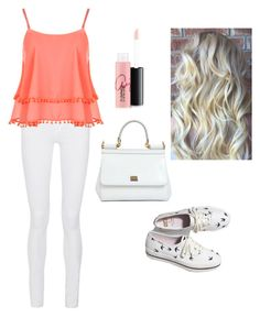 """""""peach"""" by boston-c on Polyvore featuring Frame Denim, WearAll, Keds, Dolce&Gabbana, MAC Cosmetics, women's clothing, women, female, woman and misses"""