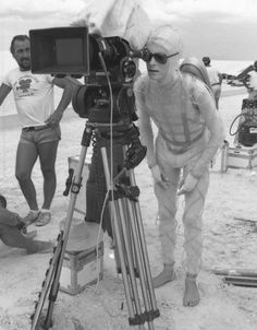 Backstage photos taken during the filming of The Man Who Fell to Earth show a   relaxed - if gaunt - looking David Bowie in 1975.