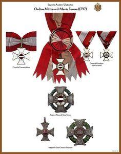 I NOSTRI AVI • Leggi argomento - Tavole ordini AUSTRIA-UNGHERIA (Nuove) Military Decorations, Military Ranks, Arts Award, Emblem, Flag, Austria, Awards, Accessories, Badges