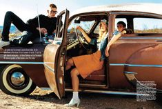 Free-Spirited Cruising Editorials : Glamour Germany 'On The Road'