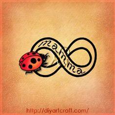 mamma ladybug infinity tattoo