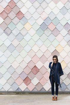 The dreamy pastel tiles of Sugarhouse Studios in London - @montgomeryfest