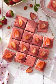 Here's a must-read article from Country Living:  Strawberry Rhubarb Shortbread Bars