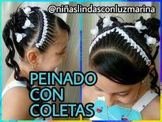 Peinado Infantil/ Casual Facil Y Rapido/ Peinados Rakel 41 Black Girl Braids, Girls Braids, Braided Hairstyles, Little Girls, Victoria, Youtube, Hair Styles, Beauty, Kids Fashion