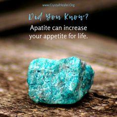 Apatite's healing powers can help you feel more vigorous by giving you a boost of passion. ✨ How Are You Feeling, Healing, Crystals, Crystals Minerals, Therapy, Crystal, Recovery