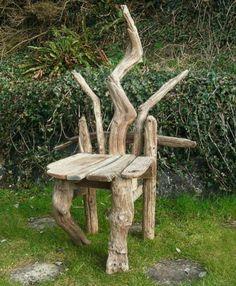 Driftwood Chair handmade by Julia of Julia's Driftwood Furniture