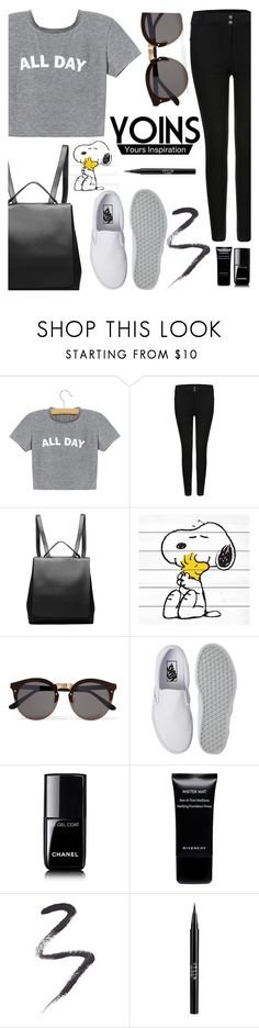 """YOINS #3"" by buflie ❤ liked on Polyvore featuring Marmont Hill, Illesteva, Vans, Chanel, Givenchy, Topshop, Stila, yoins, yoinscollection and loveyoins"