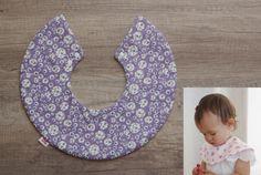 """Baby Bib 360, Reversible Mini Cape Style Muslin Bib, 6 Layers Gauze & LIBERTY fabric """"Johanna""""<1010>"""