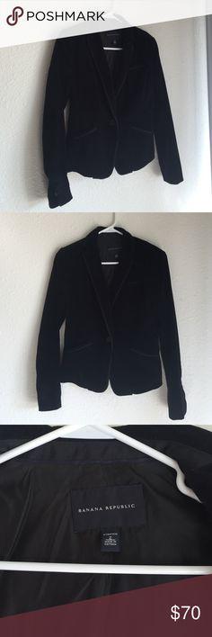 Banana Republic Velvet Blazer Luxurious velvet blazer from Banana Republic. Fit is similar to a suit jacket. Size: 2 Banana Republic Jackets & Coats Blazers