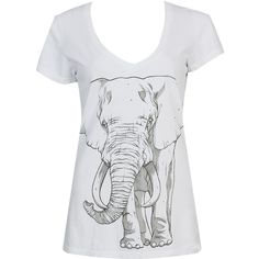 WWF Elephant Tee found on Polyvore