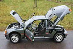 Peugeot 205 GTI T16 Psa Peugeot Citroen, Citroen Ds, Peugeot 205, Ferrari Mondial, Bike Rally, Rally Car, Maserati Quattroporte, Jaguar Xj, Lotus Esprit