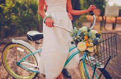 Cute wedding bike!