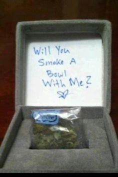 OMG! Now that is a cute and creative way to ask a girl, to smoke a bowl with her.... ( I Love It )