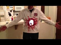Quite possibly the most brilliant Halloween costume ever.  EVER!!!  Use 2 iPads to create the illusion of a big hole in your stomach (think of the movie, Death Becomes Her....)