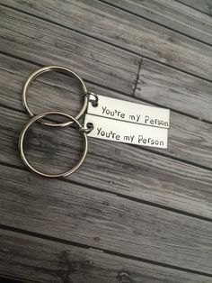 Great gift for your boyfriend or as a best friend gift. Tell your favorite person that they are your person with these you're my person keychains. Each 22g stainless steel bar is about 3/8 x 1.5 inche
