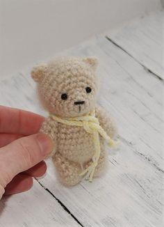 Amigurumi bear Crochet toy Knitted bear Easter Miniature bear Toy funny animal Soft plush bear Fluffy bear Blyth friend Tiny cute bear