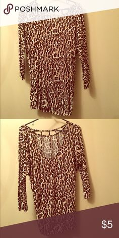 Leopard tunic Leopard tunic with cut out back Charlotte Russe Tops Tunics