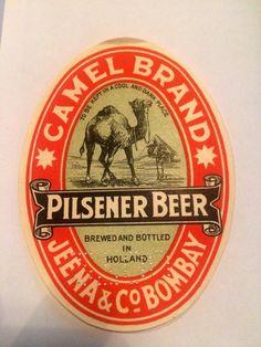 Rare old Beer label Camel Brand