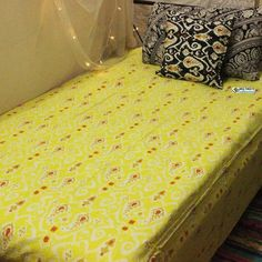 Yellow Ikat Kantha Quilt Boho Indian Kantha bedspread Ethnic Traditional kantha bedding Home decor Quilt Embroidered kantha Blanket throw - Etsy - Home Decor ideas - Boho Bedding Bohemian Bedspread, Boho Bedding, Cheap Room Decor, Embroidered Bedding, Natural Pillows, Bohemian Style Bedrooms, Ikat Pattern, Traditional Quilts