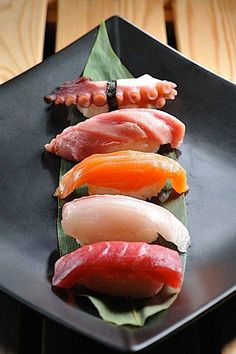 Sushi, Nigri Sashimi, rolls and more. Sushi is artisitic. This is my comfort food. I Love Food, Good Food, Yummy Food, Tasty, Sushi Recipes, Asian Recipes, Japan Sushi, Sushi Comida, My Favorite Food