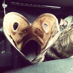 cowboy love-   Cute boots, never saw that heart before.