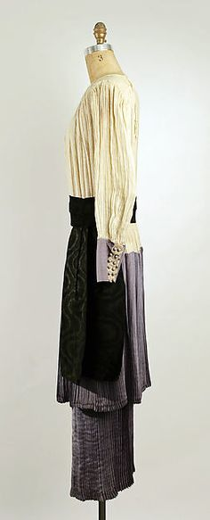 Afternoon dress (image 2) | Callot Soeurs | French | 1915 | cotton, silk | Metropolitan Museum of Art | Accession Number: 1978.184.5a, b