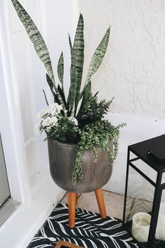 How to Style a Front Porch for Fall and Halloween - Within the Grove Here's how you can easily decorate your front porch for fall, Halloween, and Thanksgiving while using a lot of the same decor items. Front Porch Plants, Front Porch Flowers, Front Porch Design, Front Porch Decorating For Fall, Porch Steps, Diy Porch, Halloween House, Fall Halloween, Fall Lanterns