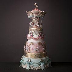 Future baby's birthday cake Beautiful Cake Designs, Gorgeous Cakes, Pretty Cakes, Cute Cakes, Yummy Cakes, Amazing Wedding Cakes, Unique Wedding Cakes, Unique Cakes, Creative Cakes
