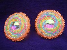 Native American Beaded Earrings by Jackiesbeadsnthings on Etsy, $30.00