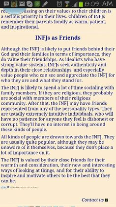 #INFJ  If I let you in then you are important and you sincerely are my friend
