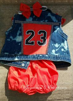 Check out this item in my Etsy shop https://www.etsy.com/listing/285357807/customized-jordan-denim-vest-with-diaper