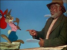 """Uncle Remus and Br'er Rabbit in Disney's Song of the South! I absolutely loved this story, and it will always be a very fond childhood memory. still sing """"Zip-a-Dee-Doo-Dah! Walt Disney, Disney Love, Disney Magic, Disney Art, Disney Stuff, Uncle Remus, Rabbit Run, Song Of The South, Splash Mountain"""