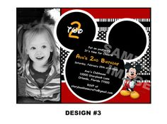 Mickey Mouse Invitation  Mickey Mouse by StorybookLaneCrafts, $10.00