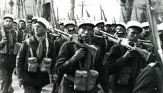 Men of the French Foreign Legion parade in Tunisia in 1943. Pin by Paolo Marzioli