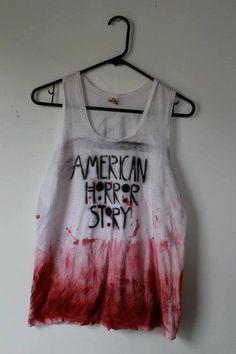 American Horror Story bloody shirt #tank #top #blood
