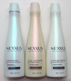 3 Bottles 13.5oz  NEXXUS Shampoo Flax Seed, Conditioner Green Tea, Oil Infinite #Nexxus