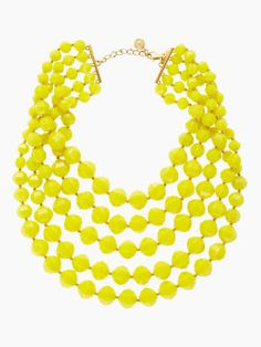 cut to the chase bib necklace - kate spade