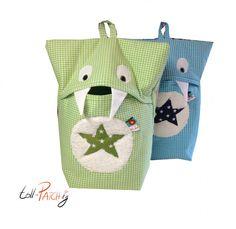 Schlafanzugmonster - Vichy Grün- Grüner Stern von Tollpatchig auf DaWanda.com