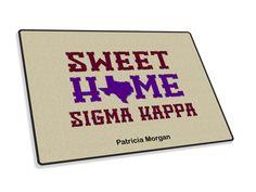 Sigma Kappa Sweet Home Welcome Rug from GreekGear.com