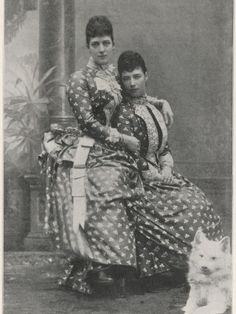 Queen Alexandra and her sister Dowager Empress Marie Feodorovna