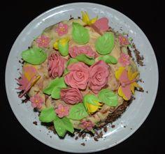 Cake with coconut cream - Homemade Desserts, Coconut Cream, Enchanted, Acai Bowl, Breakfast, Cake, Recipes, Food, Acai Berry Bowl