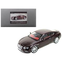 2016 Bentley Continental GT LHD Burgundy 1/18 Diecast Model Car by Paragon 98221 DDS-5663
